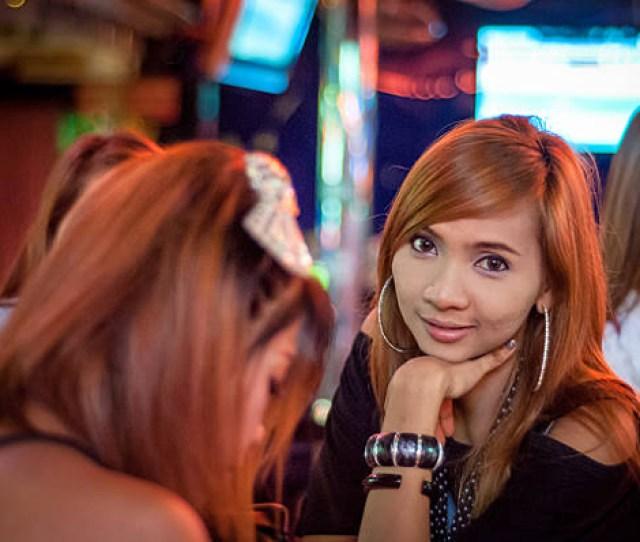 Thai Girl With Friend In Bar