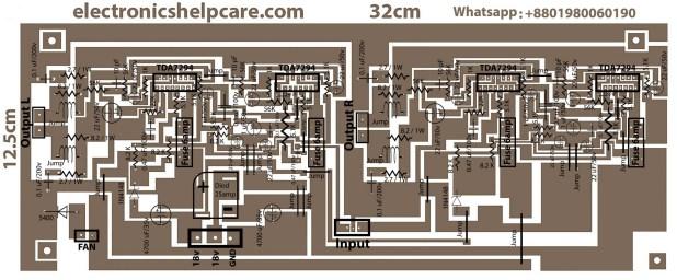 TDA7294 Amplifier Circuit Diagram RMS 300W with symbol
