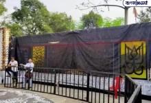 Photo of প্রশাসনের নির্দেশ কালো কাপড়ে মুড়ে ফেলা হয়েছিল দুর্গাপুজোর প্যান্ডেল, বিজেপি নেতা সরব হওয়ায় উঠল পর্দা