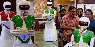 robot waiters Kerala