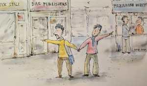 kolkata book fair cartoon Upal Sengupta