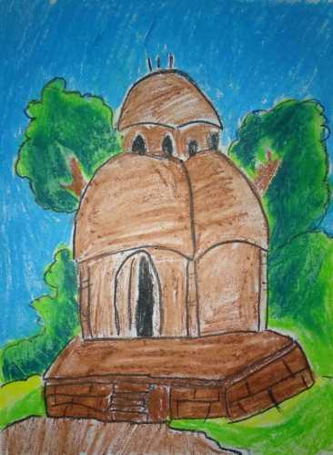 Pastel drawing by Aryaneel Samanta