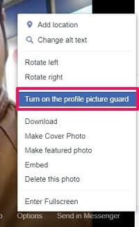 turn on profile picture lock
