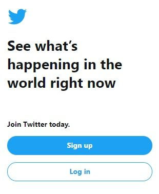Create a new twitter account