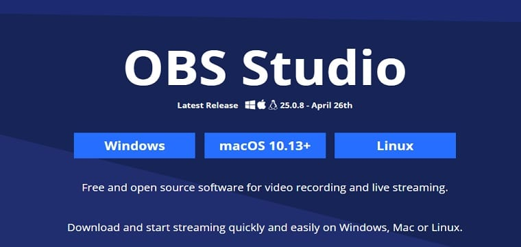 OBS screen recording software