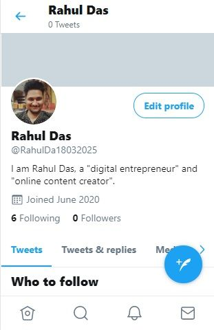 Twitter account has been created
