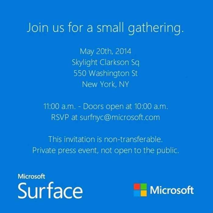 surface invite