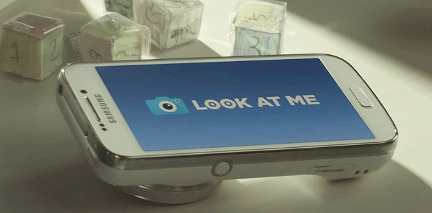 samsung look at me app