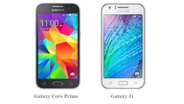 galaxy j1 and galaxy core prime