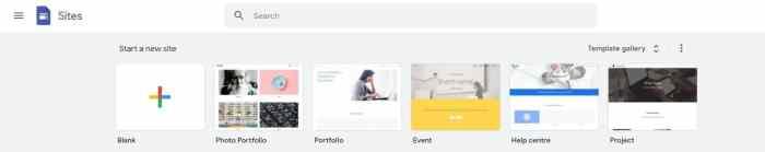 Google Sites Free Website Builder