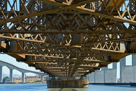 View of the underside of the Benicia-Martinez Railroad Drawbridge in Benicia, Calif., on Friday, Aug. 15, 2014. (Jose Carlos Fajardo/Bay Area News Group)
