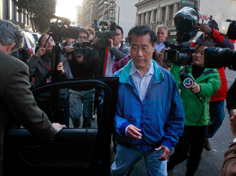 State Sen. Leland Yee leaves Federal Court in San Francisco, Calif., after posting $500,000 bail Wednesday March 26, 2014, following his arrest on federal weapons charges. (Karl Mondon/Bay Area News Group)