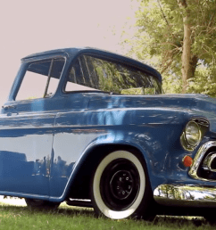 video this could be the coolest 1957 chevy pickup in america simplicity rules [ 1256 x 631 Pixel ]