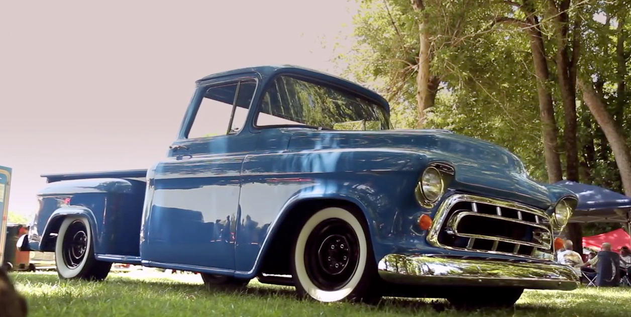 hight resolution of video this could be the coolest 1957 chevy pickup in america simplicity rules