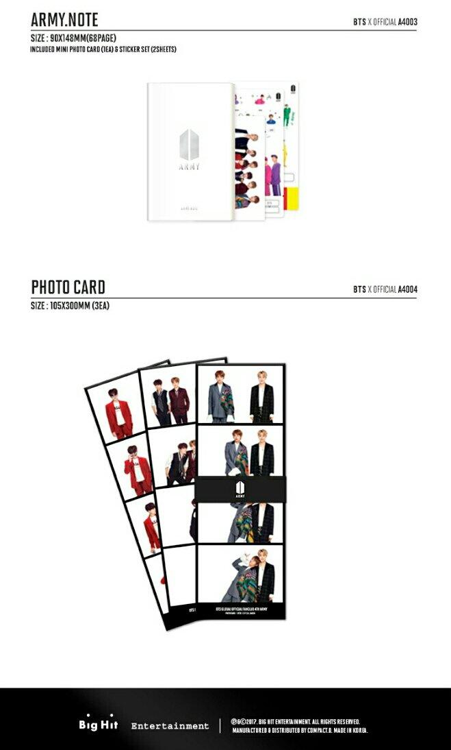 [Merchandise] BTS Global Official Fanclub ARMY 4th Term
