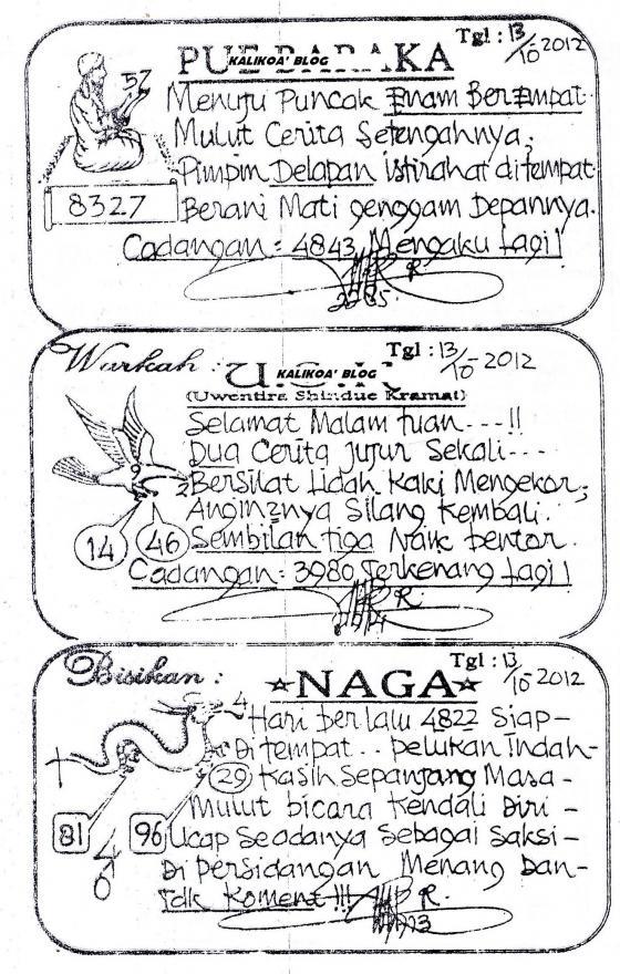 Togel Sgp Besok : togel, besok, PREDIKSI, SABTU, 13-10-2012, ANGKA, KERAMAT, SINGAPORE
