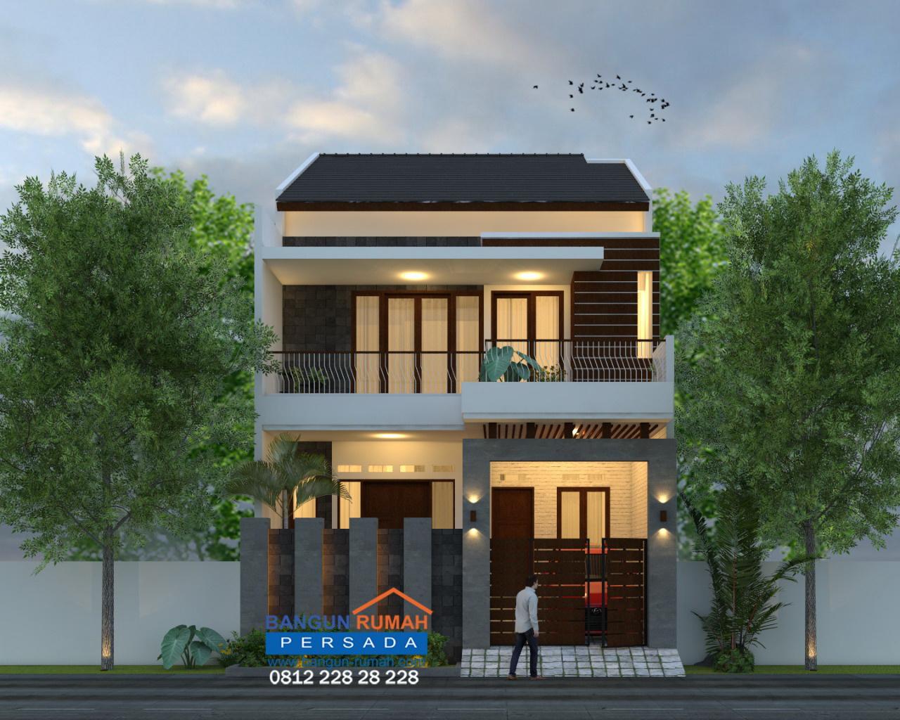 Desain Rumah 8 x 15 M2 2 Lantai 4 Ruang Tidur  Desain Rumah Online