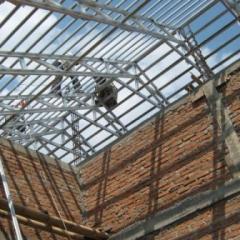 Baja Ringan Ekspose Pemasangan Rangka Atap Bangunjasa