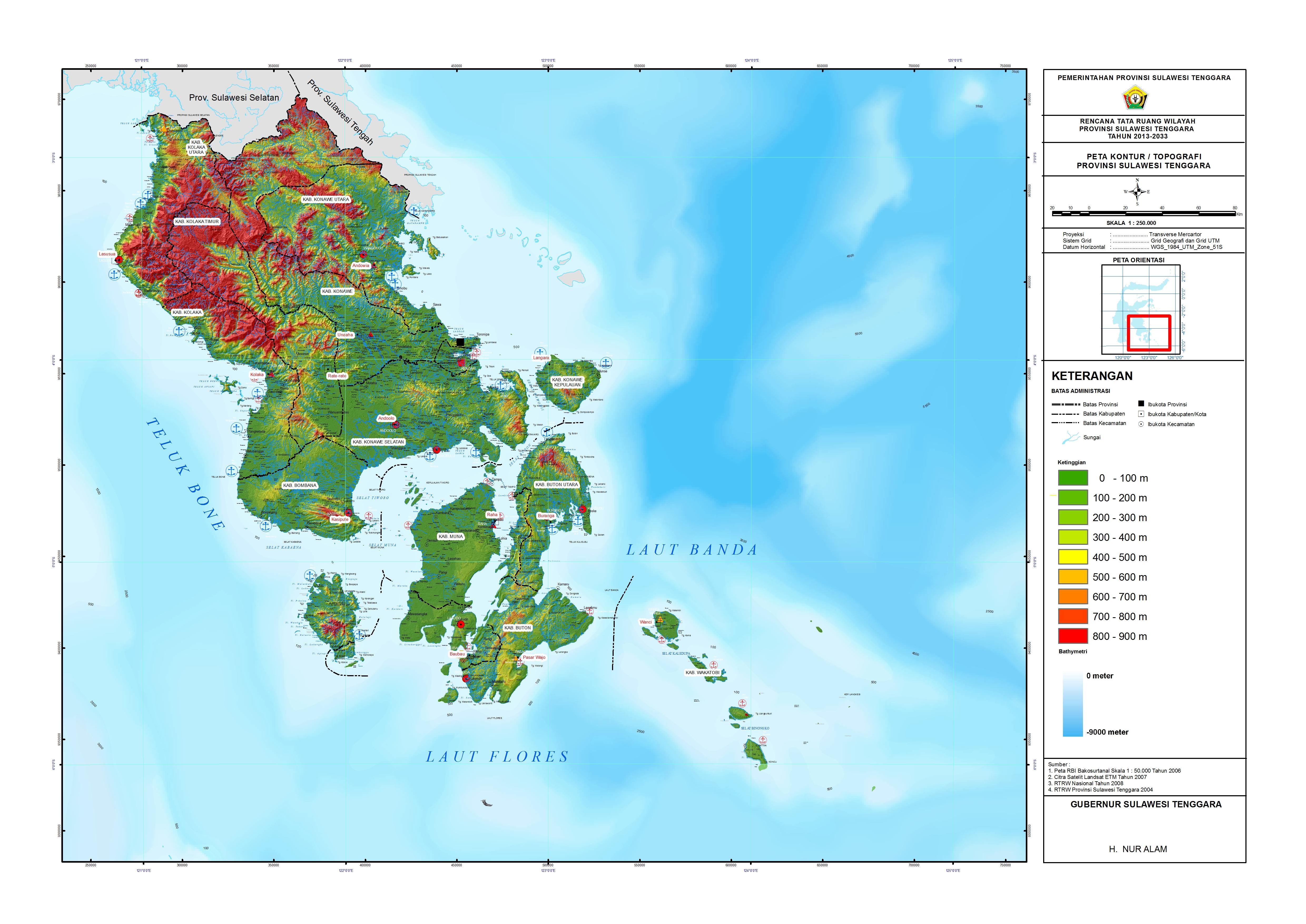 Peta Kontur Topografi  bangwilsultra