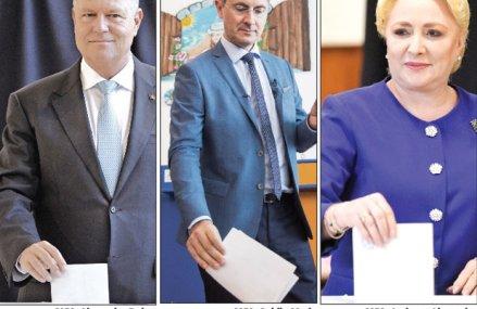 Alegeri istorice: Pentru prima dată candidatul PSD nu primeşte cele mai multe voturi în turul întâi