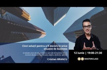 Prezentare masterclass Cristian Brancu