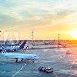 Modern airport at sunset, dehradun jolly grant airport taxi service