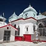 White stoned Indian temple in Gangotri. Uttarakhand, Nord India, gangotri taxi service