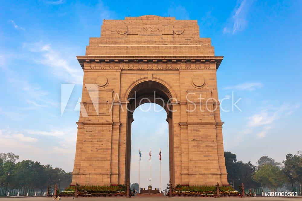 Famous India Gate in the city centre of New Delhi, rishikesh to delhi taxi
