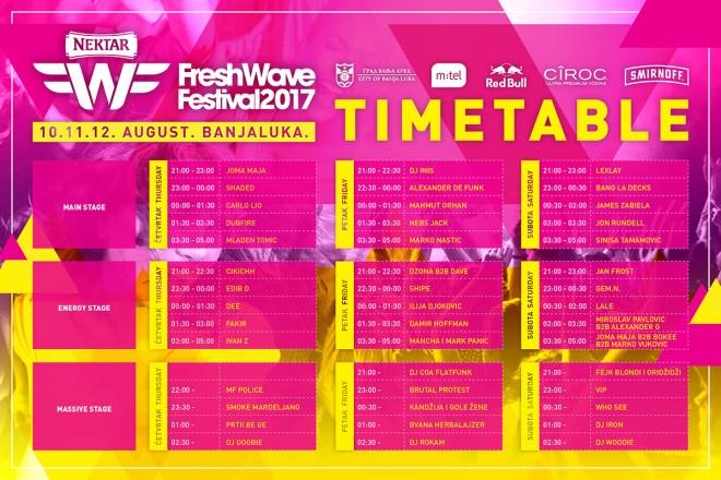 freshwave 2017 raspored