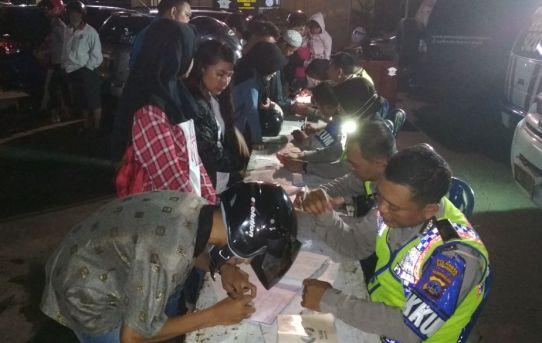 Satuan Lantas Polresta Banjarmasin Tilang 155 Pengendara