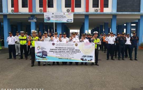 Dishub Kota Banjarmasin dan Satuan lantas Polresta Banjarmasin Gelar Ramp Check Kendaraan Mudik Lebih Awal