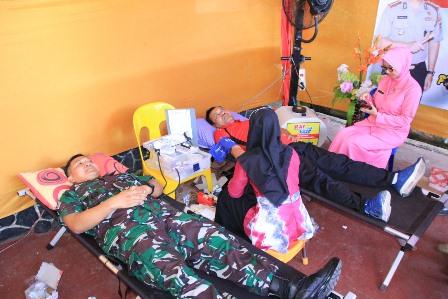 Peringatai Hari Bhayangkara ke 73, Polresta Banjarmasin Gelar Donor Darah.