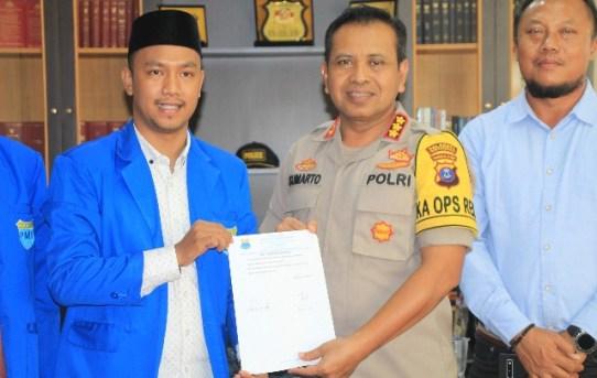 Siap Tangkal Radikalisme dan Jaga Kondusifitas di Kota Banjarmasin, PMII dapat Apresiasi Kapolresta Banjarmasin