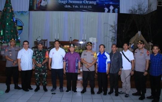 Kapolresta Banjarmasin Bersama Dandim 1007/Banjarmasin dan Walikota Banjarmasin Cek Kesiapan Pengamanan Ibadah Natal