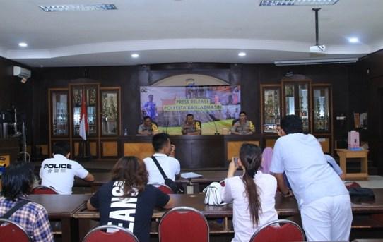 Kapolresta Banjarmasin Pimpin Press Release Akhir Tahun 2019