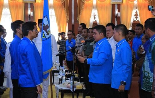 Kapolresta Banjarmasin Hadiri Pelantikan DPD KNPI Kota Banjarmasin