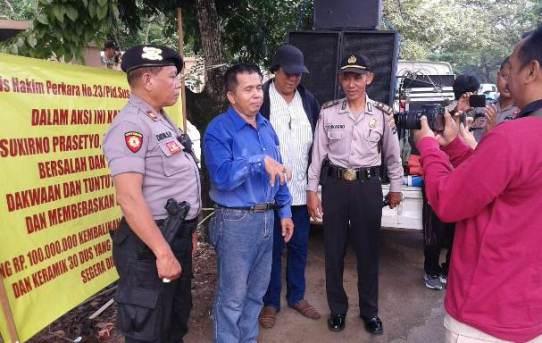 Polresta Banjarmasin Berikan Pengamanan Aksi Unjukrasa di Pengadilan Tipikor