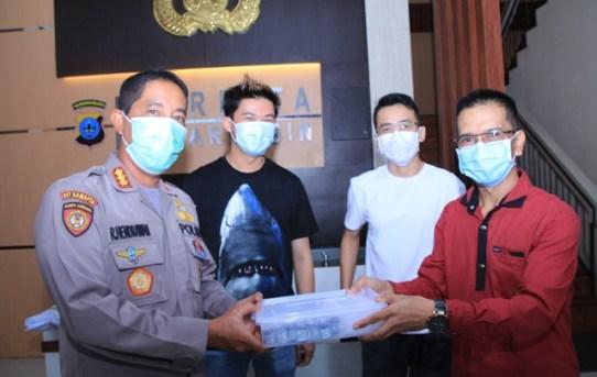 Polresta Banjarmasin Terima 100 Paket Bantuan Jamu Anti Virus Corona (AVC)