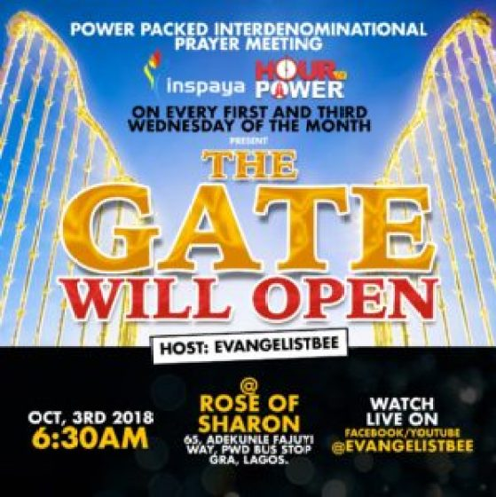 THIS GATE WILL OPEN! -PRAYER POINTS - Banji Adesanmi Ministry