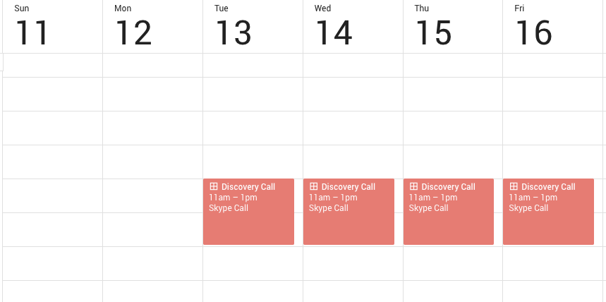 Google Calendar Appointments View