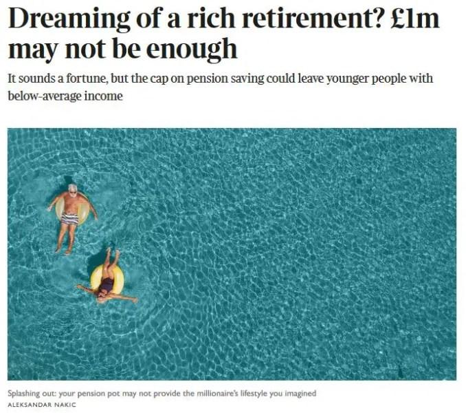 A millionaire retirement