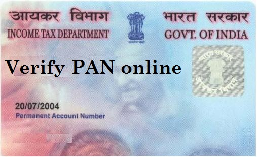 How to Verify PAN online or Know PAN Details & ITR