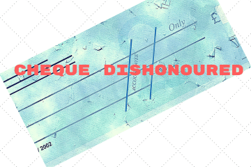 Dishonour of cheque for insufficiency of funds