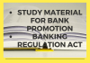 Study Material for bank promotion