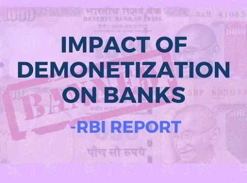 Impact of demonetization on banks