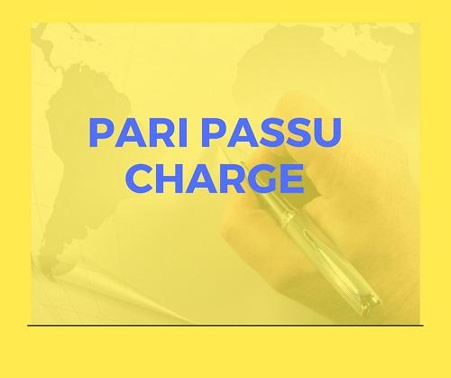 What is Pari Passu Charge?
