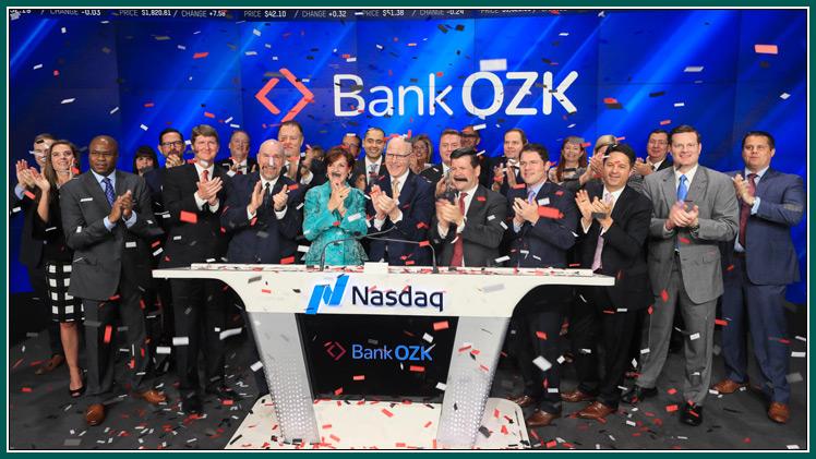 Bank Ozk Celebrates New Name Ticker Symbol And Logo At Nasdaq Stock