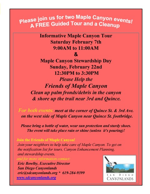 Friends of Maple Canyon event flyer