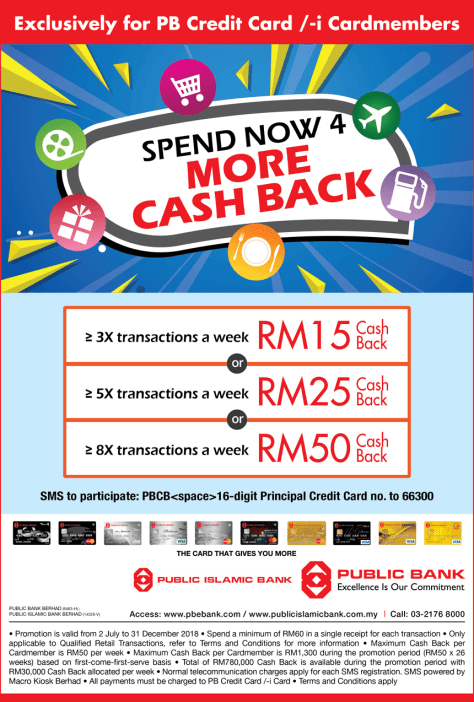 Spend Now 4 More Cash Back
