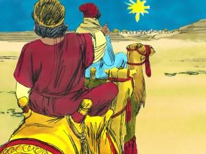 Magi follow star to Bethlehem